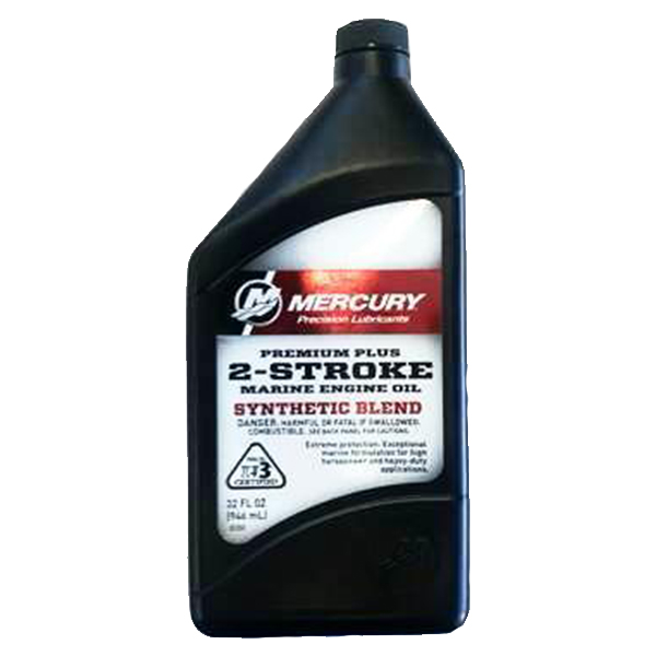 Mercury Premium Plus 2 Cycle TC-W3 Outboard Oil 946ml