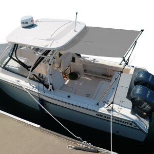 Oceansouth T-Top Retractable 1 4M X 1 7M Black | Brisbane Marine